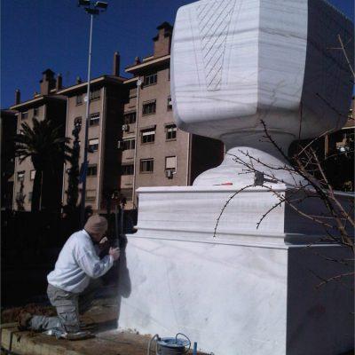 Trabajos de obra pública en mármol